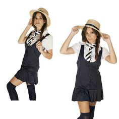 Fancy Dress Outfit School Girl For St TrinianS Night Stockings Included Halloween Fancy Dress, Halloween Outfits, Halloween Party, Halloween Costumes, Uk Parties, St Trinians, Ladies Fancy Dress, School Outfits, Lady