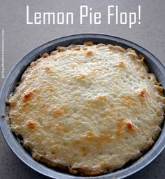 My Lemon Pie Flop...