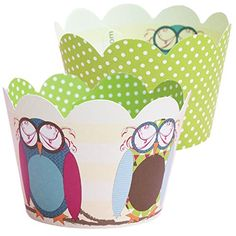 Owl Cupcake Wrappers Slumber Party Halloween Birthday Baby Shower Decorations Confetti Couture Party Supplies 36 Wraps >>> Check out the image by visiting the link.