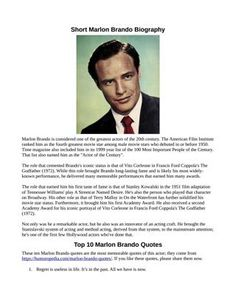 Famous Quotes About Life, Life Quotes, First Academy Awards, Marlon Brando, Hollywood Actor, Biography, All About Time, Fun Facts, How To Memorize Things