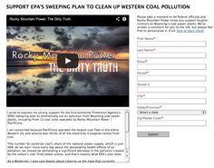 Solutions:  SUPPORT EPA'S SWEEPING PLAN TO CLEAN UP WESTERN COAL POLLUTION.  The video is quite informative and compelling.   http://www.truebluesky.org/