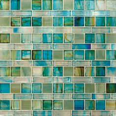 Hirsch Art Glass Tile Geo Collection - Chill