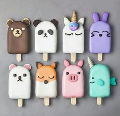 Anime Popsicles baking backen mitbringsel Best Picture For Polymer Clay Crafts For Your Taste You are looking for something, and it is going to tell you exactly what you are looking for, Fimo Kawaii, Polymer Clay Kawaii, Polymer Clay Charms, Polymer Clay Miniatures, Polymer Clay Cake, Fimo Clay, Kreative Desserts, Magnum Paleta, Cute Baking