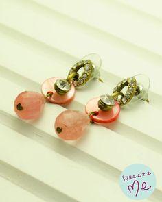 Brinco Gota Strass e Rosê - R$ 39,90    Disponível na nossa loja virtual: http://bzz.ms/brincogtstrs