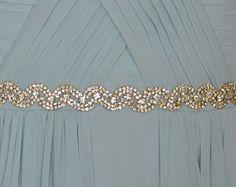 Gold Hochzeit Gürtel Gold Hochzeit Schärpe von JillsBoutique