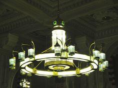 Beautiful chandelier inside Masjidil Haram