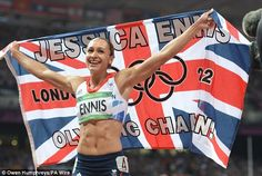 Jessica Ennis the poster girl of the Olympics, last night led Britain's athletes on their most glorious day of the Games yet.    In the performance of her career, the 26-year-old from Sheffield delivered gold for a joyous nation in the heptathlon.