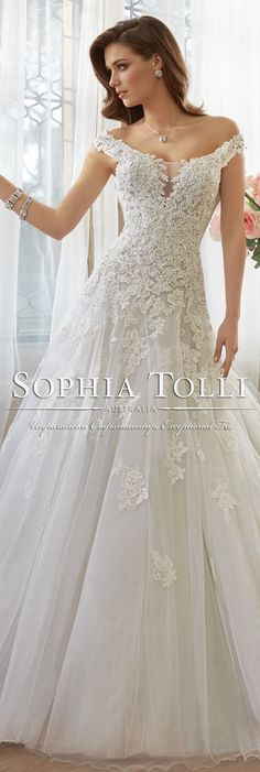 The Sophia Tolli Spring 2016 Wedding Dress Collection - Style No. Y11635 - Vasya #laceweddingdress