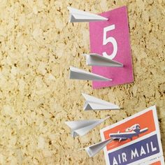 Paper Plane Push Pins from 2Shopper
