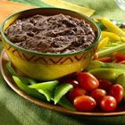 black bean dip yum if I heat this I wonder if it will taste like the dip at Gloria's...