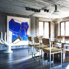 Present perfect #Parisian. Whether designing a #chalet in #Gstaad or a shop in…