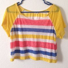 Crop Top! Crop top, super light material, only worn a couple times, Forever 21, size M. Forever 21 Tops Crop Tops