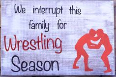 Hand Painted Wrestling Sign by WordsAndWoodDesigns on Etsy