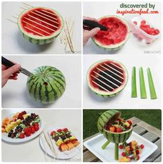 Watermelon fruit salad grill @LaTasha McClendon-Dove McClendon-Dove McClendon-Dove McClendon-Dove McClendon-Dove McCracken