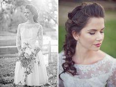 lace sleved wedding dress