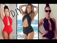 ▶ DIY Halter Monokini Swimsuit - YouTube