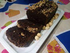 Plumcake+al+cioccolato+e+ricotta+con+granella+di+nocciola
