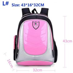 Hard Back High-Quality Multifunctional Color-Block School Backpack 8 Colors 2 Sizes