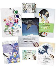 "Artists' Colouring Books & Postcards <b><font color=""#EE4598""><i> * NEW! </i></font></b> -"