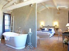 Comment faire une salle de bains ouverte sur la chambre ...