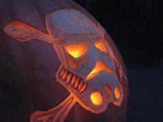Pirate Stormtrooper Pumpkin Design