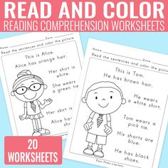 If you are looking for a fun way to work on reading comprehension with your first graders theseRead and Color Reading Comprehension Worksheets for Grade 1 and Kindergarten are perfect. Combine reading and coloring for a fun learning experience. Read and Color Reading Comprehension Worksheets for Grade 1 and Kindergarten This printable pack contains 20...Read More »