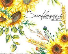 Flores en Acuarela Bouquet Clipart PNG pintadas a mano