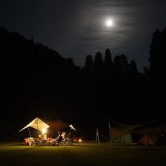 昨晩の夜撮。 月がキレイでした。 #camp  #キャンプ #テンマク #tentmark  #酔い夜 #鹿児島 #加治木 #ほぼ無加工