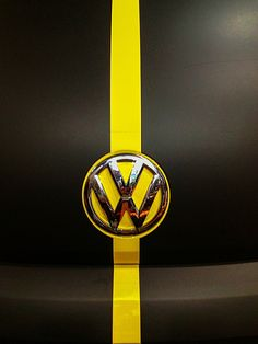VW Hood black and yellow