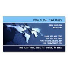 Professional Globe, Tech, Security, Map Business Card.  It's two-sided with no additional charge, and totally customizable!