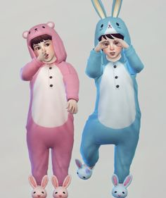 Imadako toddler animal night wear for The Sims 4
