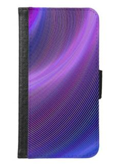 Purple storm wallet phone case for samsung galaxy s6 $29.80