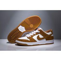 more photos 506f9 8874a Designed Nike SB DUNK LOW TRD Shoes Men Khaki White Sale