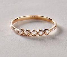 This rose cut diamond ring is beyond beautiful.