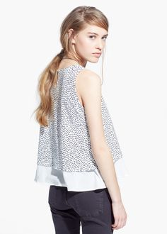 Printed double-layer top