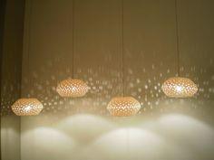 Etsy: Lightfixture Tamar - Porcelain Mushroom Ball ♥ This light fixture is made of Limoges porcelain.