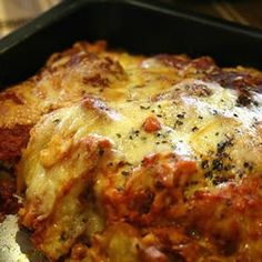 Eggplant Parmesan- Loved it! Easy recipe, and baked not fried.