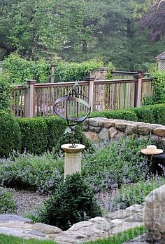 armillary sphere in the herb garden - Bluebird's herb garden board http://www.pinterest.com/bluebirdmarket/farmhouse-herb-garden/