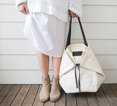 The Adventure Tote Ivory - The Beach People