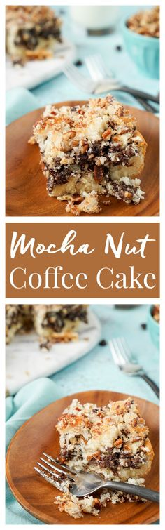 This Mocha Nut Coffee Cake is a SIMPLE and delicious breakfast cake with a mocha swirl and topped with a sugary nut mixture. Amazing flavor and texture in every bite make it perfect for weekend brunch or weekday breakfast! Ready in just 35 minutes!:
