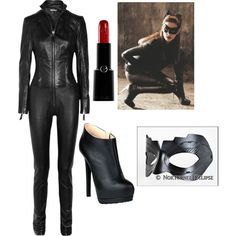 Catwoman halloween costume by katelynreynolds on Polyvore featuring polyvore, fashion, style, Hakaan, Giuseppe Zanotti and Giorgio Armani