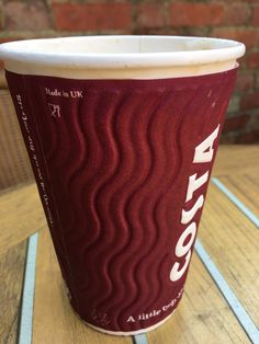Good to see Costa are using cups made in the UK. At Costa Coffee Ampthill 12/3/16.