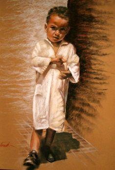 Painting is silent poetry, and poetry is painting that speaks. Pastel Portraits, Pastel Drawing, People Art, Art Studies, African Art, Black Art, Art For Kids, Art Children, Art Drawings