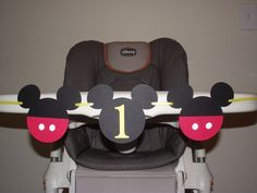 Mickey Mouse Birthday banner,  I AM 1, high chair banner, first birthday, GIRL or BOY birthday. first birthday. Mickey decorations. $12.00, via Etsy.