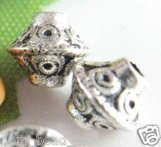 10 stuks Tibetaans zilveren tussenzetsel kraal 6mm x 6mm