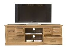 Mobel Oak Widescreen TV Cabinet with DVD storage - http://www.shopeasyplus.com/mobel-oak-widescreen-tv-cabinet-with-dvd-storage/