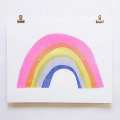 Trouva: Yellow Owl Workshop Rainbow - Risograph Print by Yellow Owl Workshop