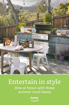 Entertain in style. Build your perfect outdoor dining space today.