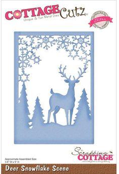CottageCutz Deer Snowflake Scene Die