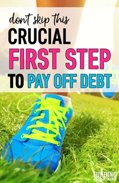 You won't be able to get out of debt without doing this first. With this one simple step, you'll be able to pay off your debt quickly and confidently.
